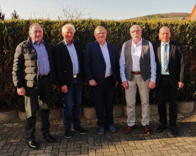 v.l.n.r.: Manfred Hürter, Jochen Seifert, Peter Schäfer, Karl-Heinz Faßbender, Johannes Bell