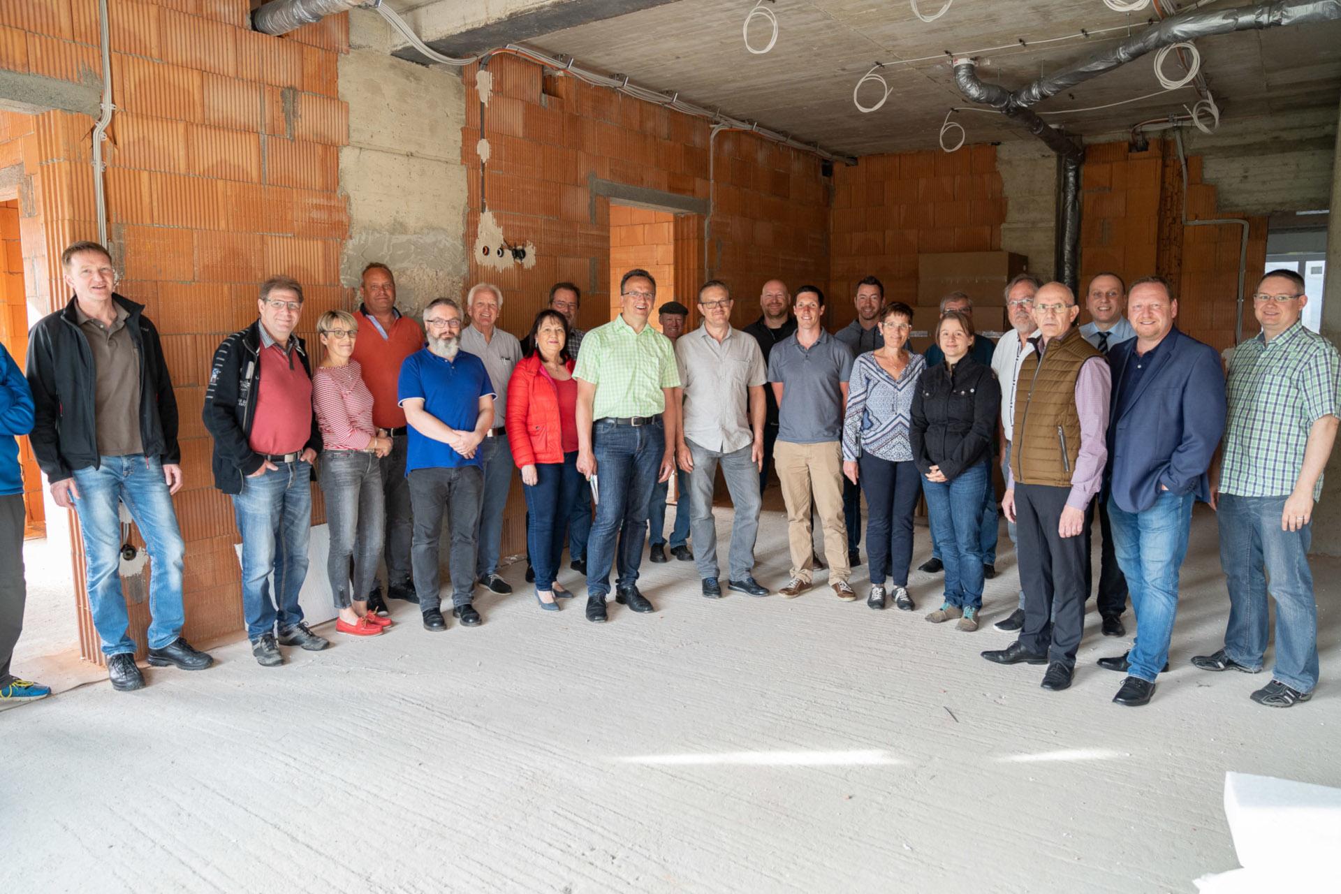 FWG Brohltal Weibern Besichtigung Baustelle Seniorenzentrum Elisabeth Haus 2019