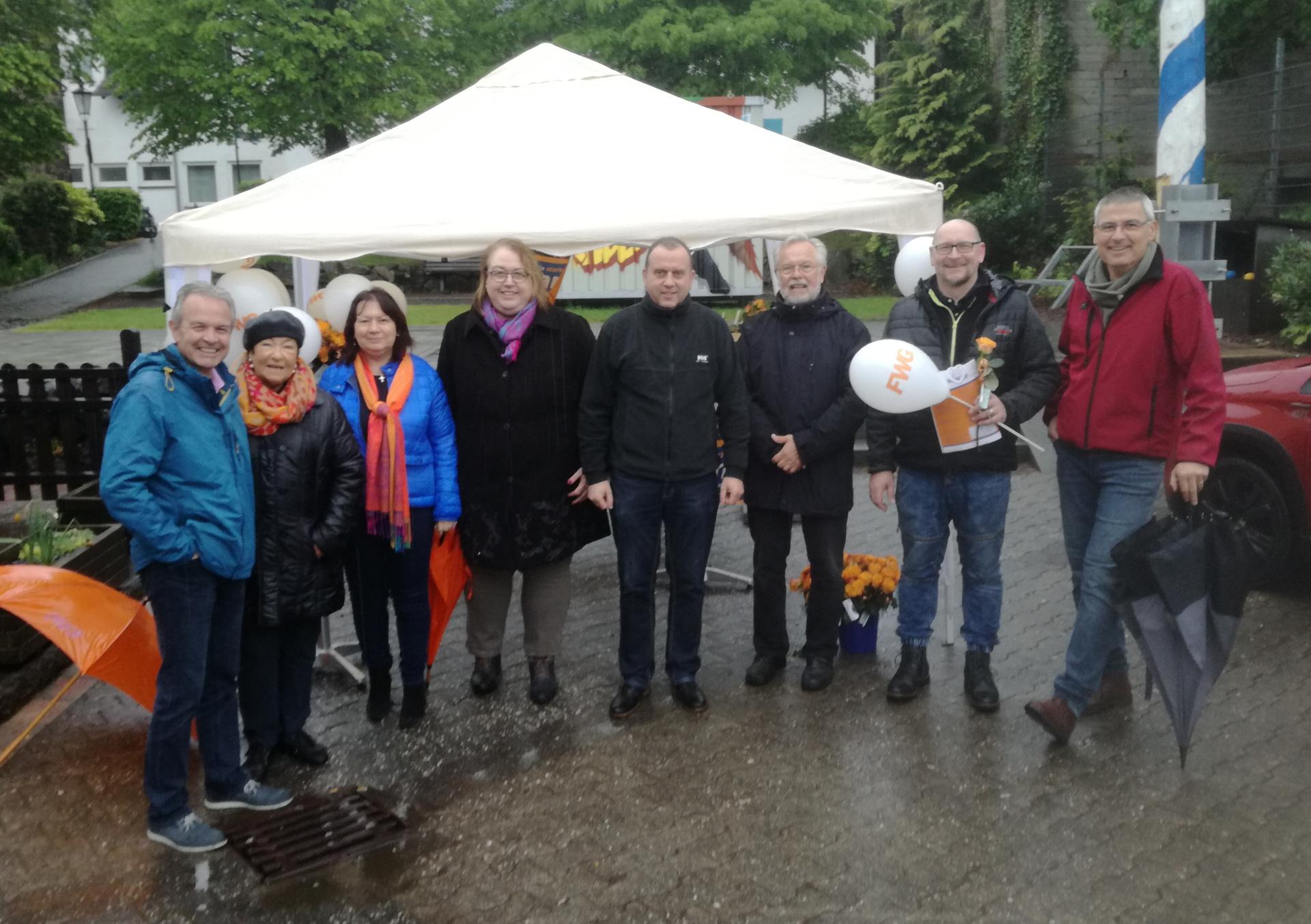 FWG Wassenach Wahlstand Dorfplatz 2019